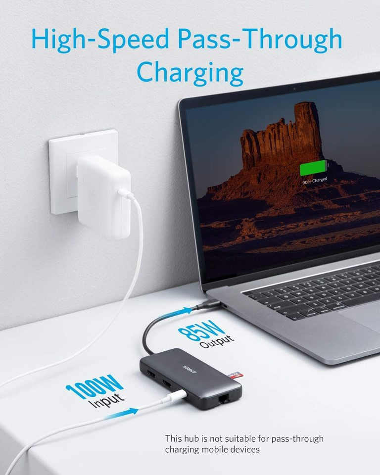 Anker USB C Hub, PowerExpand 8-in-1 USB C Adapter