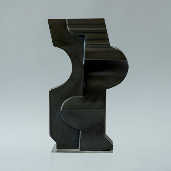 Nino Caruso Sculpture, Porcelain with Black Glaze