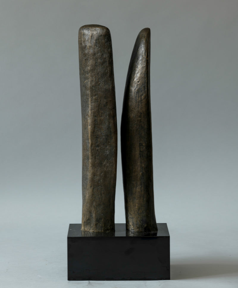 Double Bronze Abstract Sculpture
