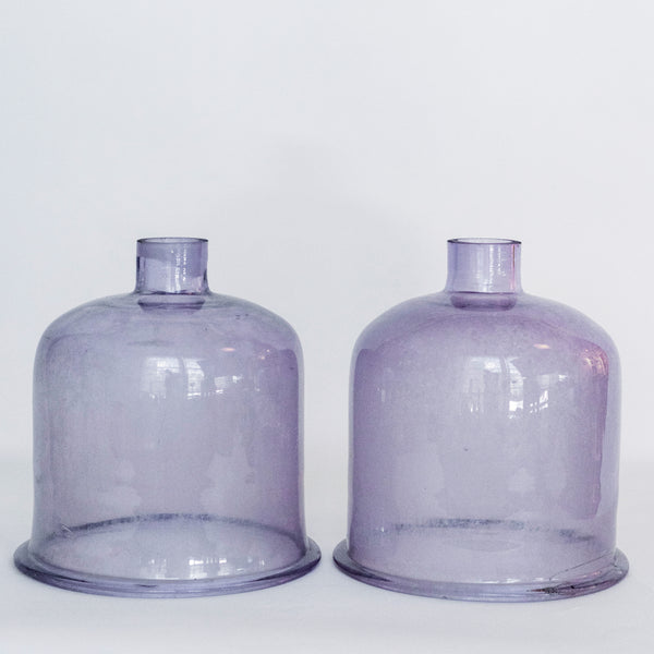 French Lavender Cloche Pair