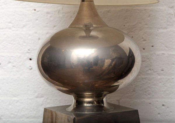Modernist Nickel Lamp