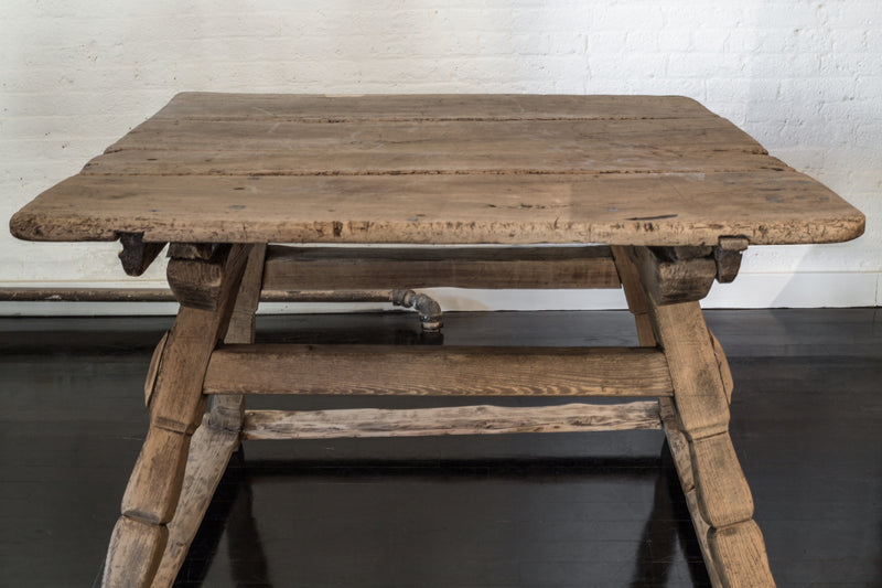 French Oak Tresle Table