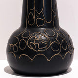 Black Patterned Vase