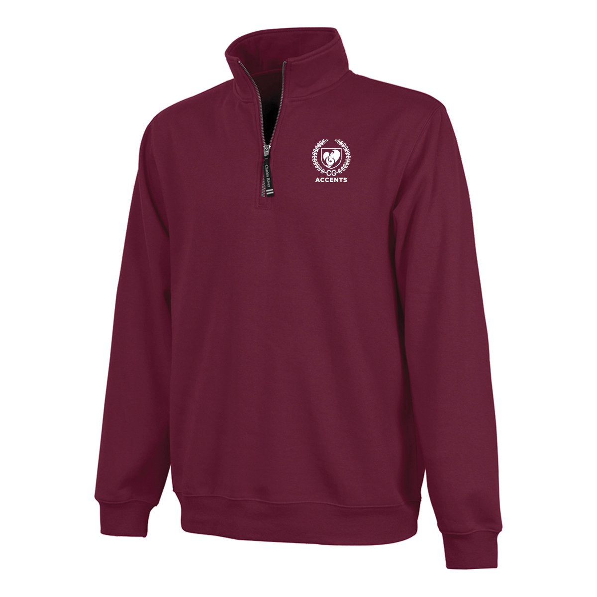 Accents Maroon Quarter Zip