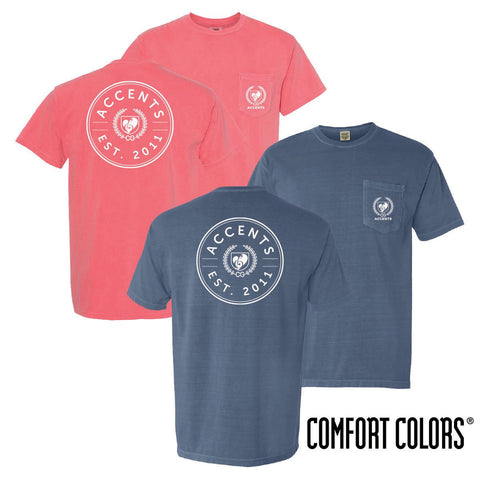 Accents Comfort Colors Pocket Badge Short Sleeve Tee