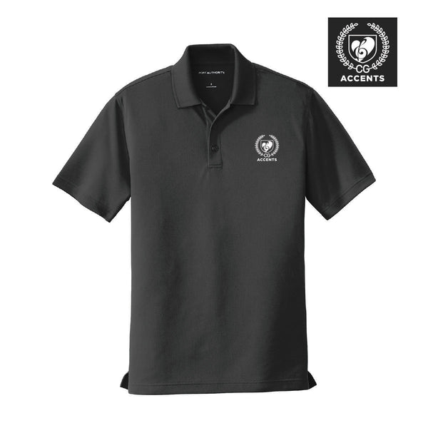 Accents Black Crest Polo