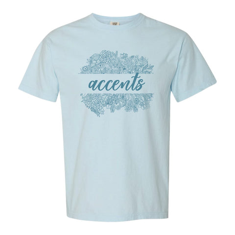 Accents Comfort Colors Floral Tee