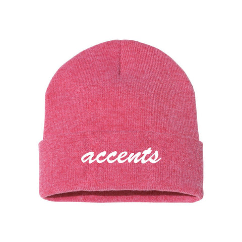 Accents Red Classic Knit Beanie