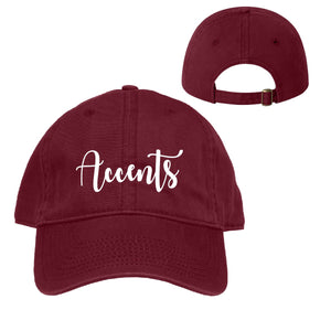 Accents Maroon Ball Cap