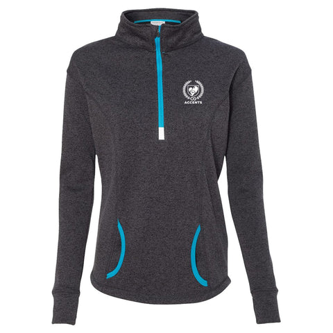 Accents Onyx Heather 1/4 Zip Pullover
