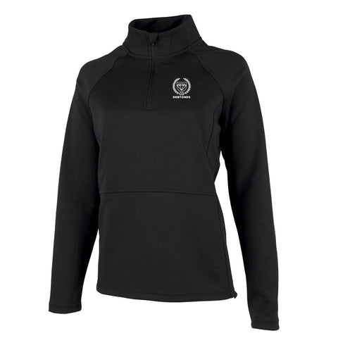 Debtones Black Women's Quarter Zip