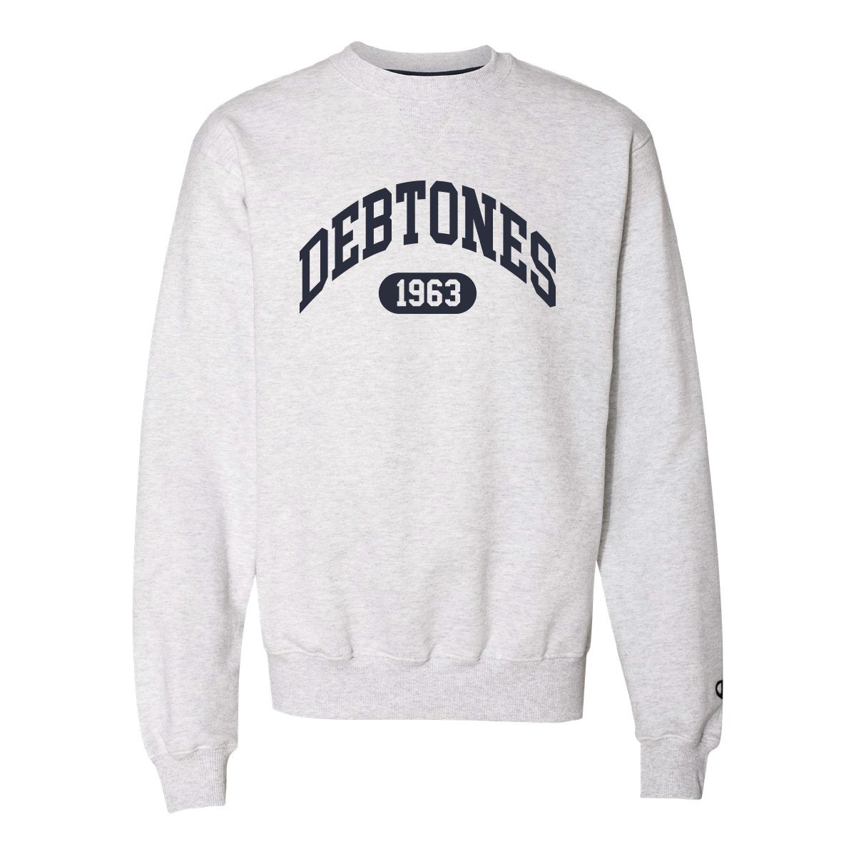 Debtones Gray Champion Crewneck Sweatshirt