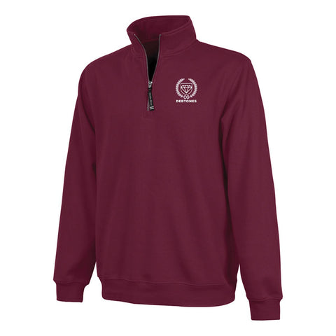 Debtones Maroon Quarter Zip