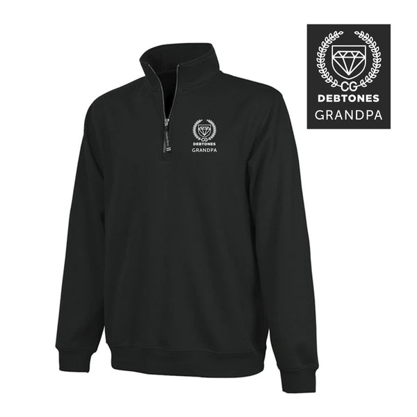 Debtones Black Embroidered Quarter Zip