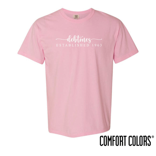 Debtones Comfort Colors Heart Script Short Sleeve Tee