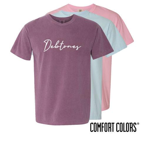 Debtones Comfort Colors Simple Script Short Sleeve Tee