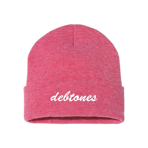 Debtones Red Classic Knit Beanie