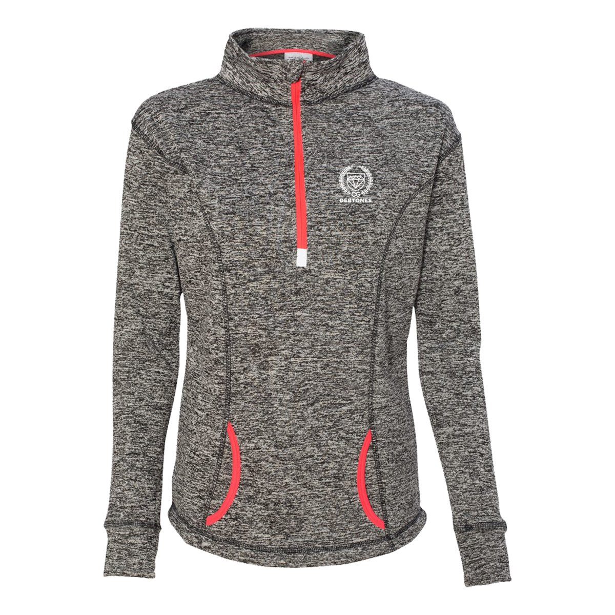 Debtones Charcoal Heather 1/4 Zip Pullover