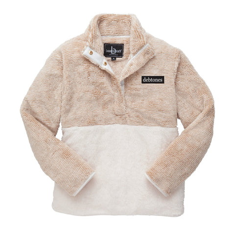 Debtones Camel Color Block Fuzzy Fleece