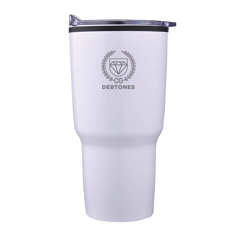 Debtones 30oz White Tumbler