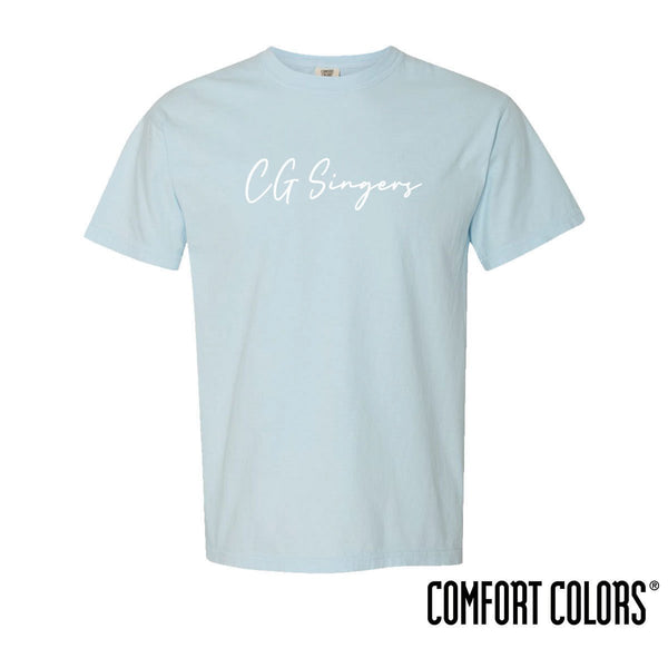 Center Grove Singers Comfort Colors Simple Script Short Sleeve Tee