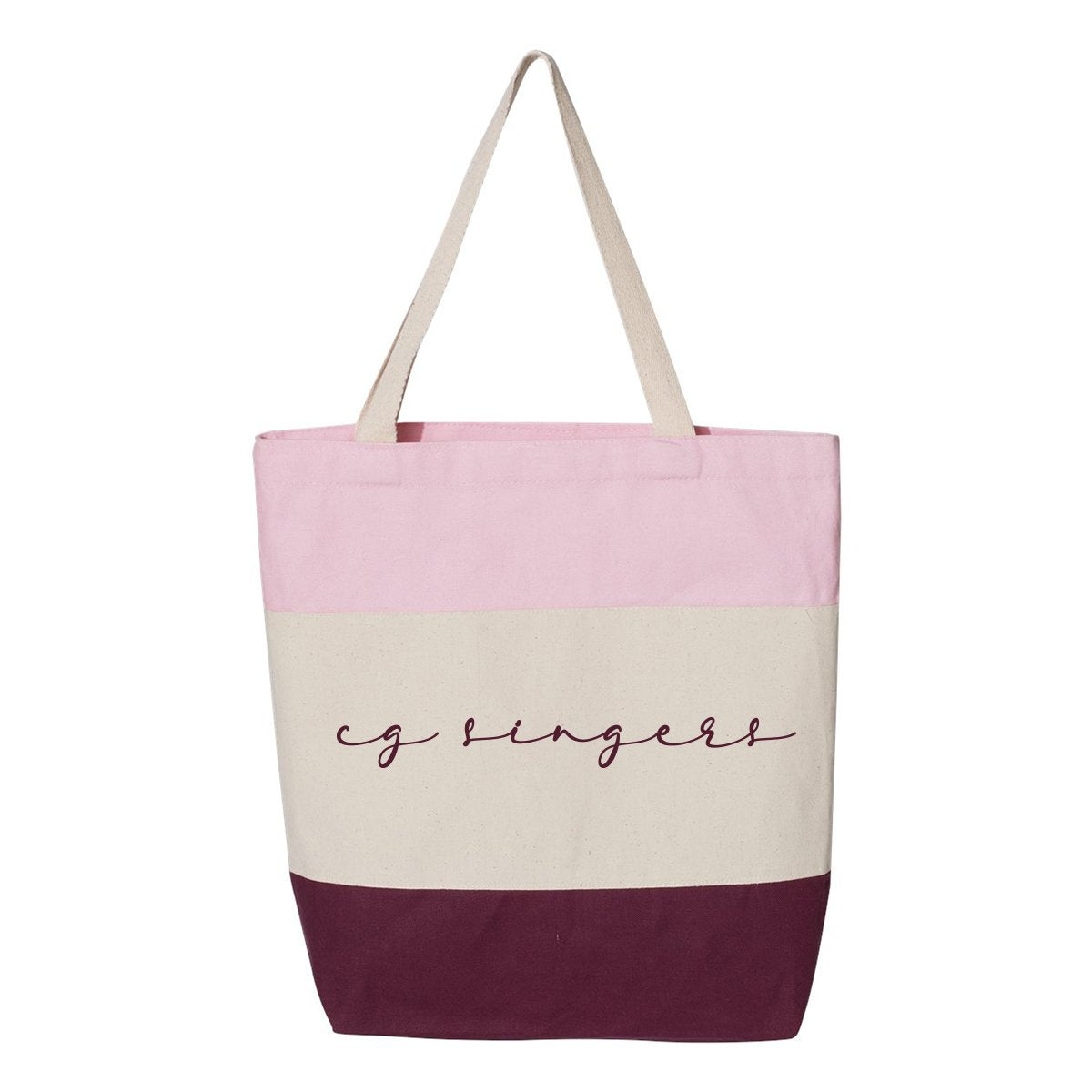 Center Grove Singers Pink Tote