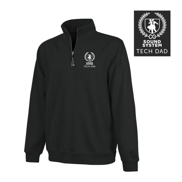 Sound System Color Black Embroidered Quarter Zip