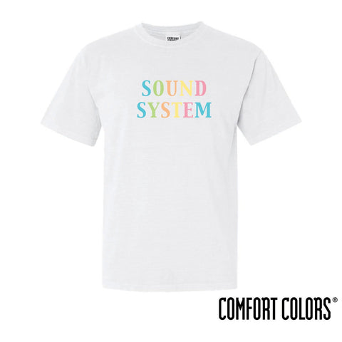 Sound System Comfort Colors Rainbow Short Sleeve Tee