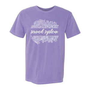 Sound System Color Comfort Colors Floral Tee
