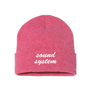 Sound System Red Classic Knit Beanie