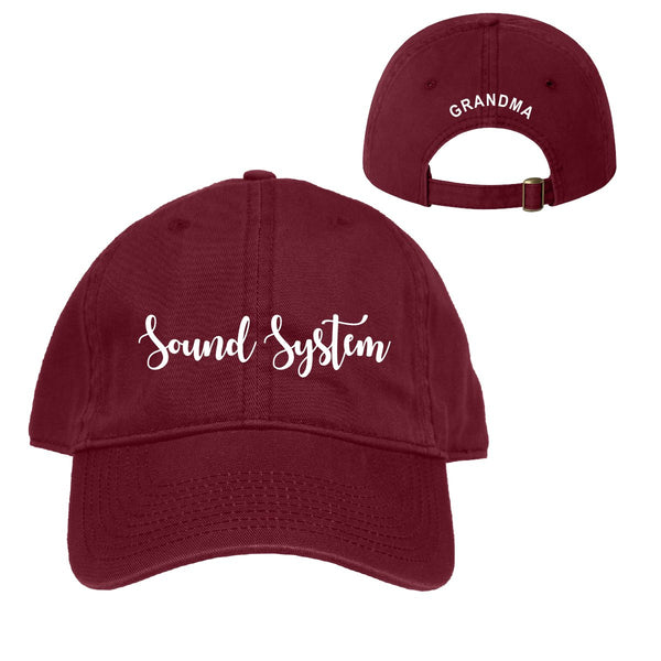 Sound System Maroon Ball Cap