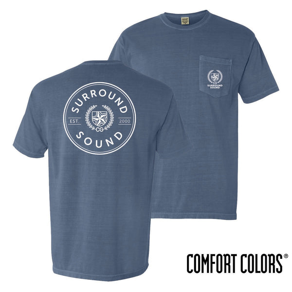 Surround Sound Comfort Colors Pocket Badge Short Sleeve Tee