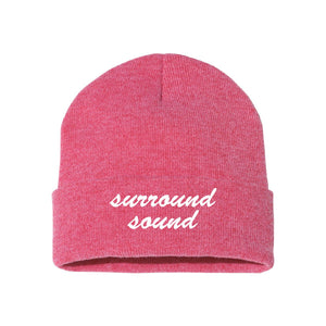 Surround Sound Red Classic Knit Beanie