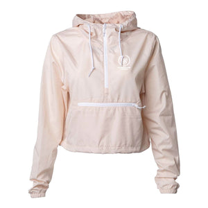 Surround Sound Blush Crop Windbreaker