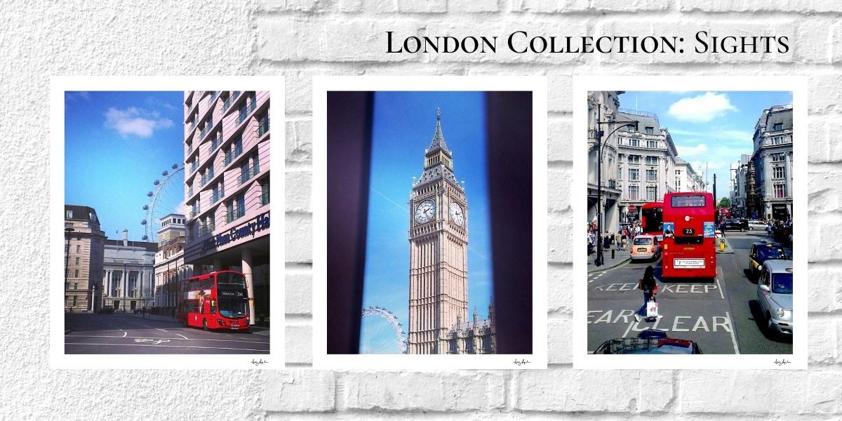 London Collection Sights | Notes From Another Land | Fine Art Travel Prints