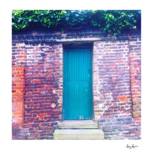 Load image into Gallery viewer, London England Green Door Green Leaves - Fine Art Travel Print