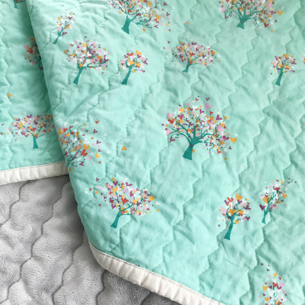 Love Grows On Trees Baby Quilt | Nursery Decor