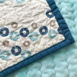 Mod Blue Circles Baby Quilt | Nursery Decor