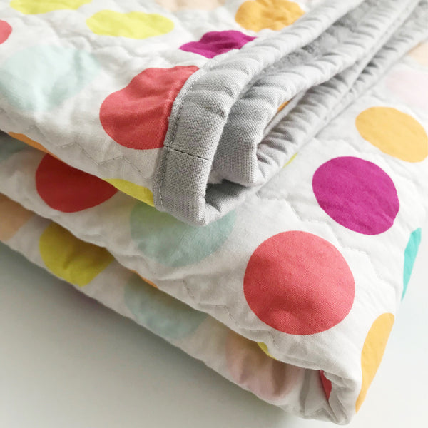 Mod Bubblegum Dots Baby Quilt | Nursery Decor