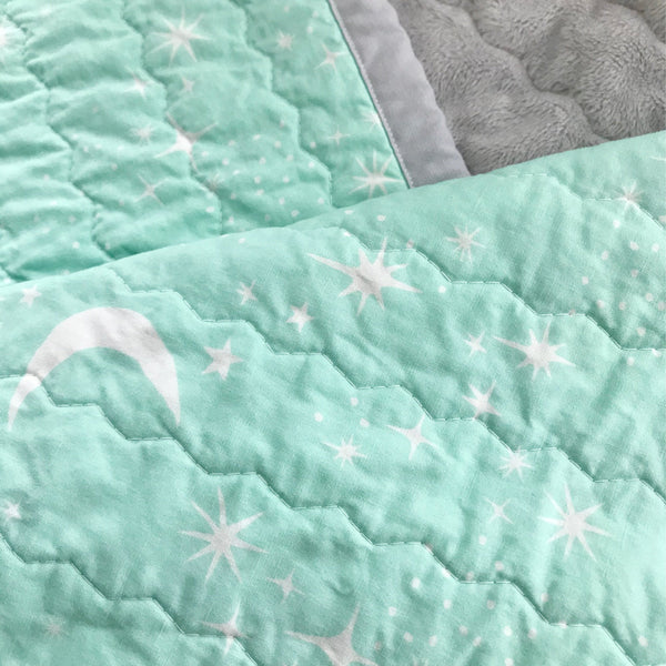 Starry Skies Baby Quilt | Nursery Decor