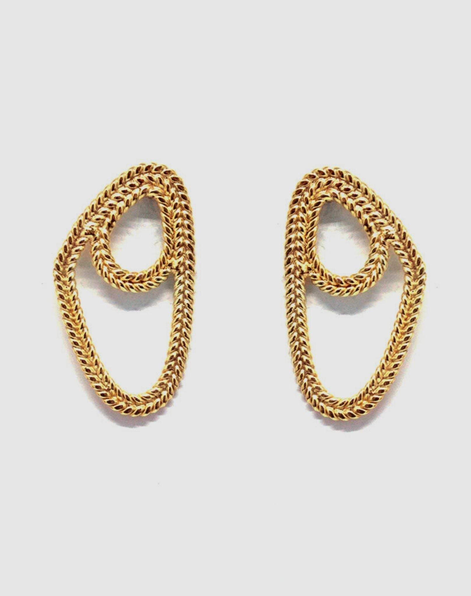 Christine Bekaert Twisted Earrings
