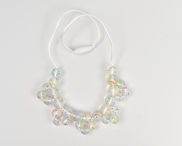 Confetti Cluster Silicone Kid Necklace