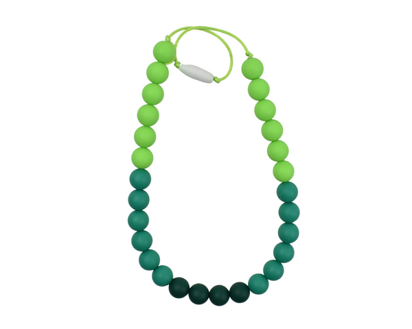 Shades of Green Silicone Kid Necklace