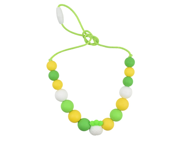 Yellow and Green Pineapple Kids Necklace