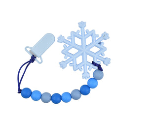 Snowflake Silicone Baby Teether - Multiple Colours Available