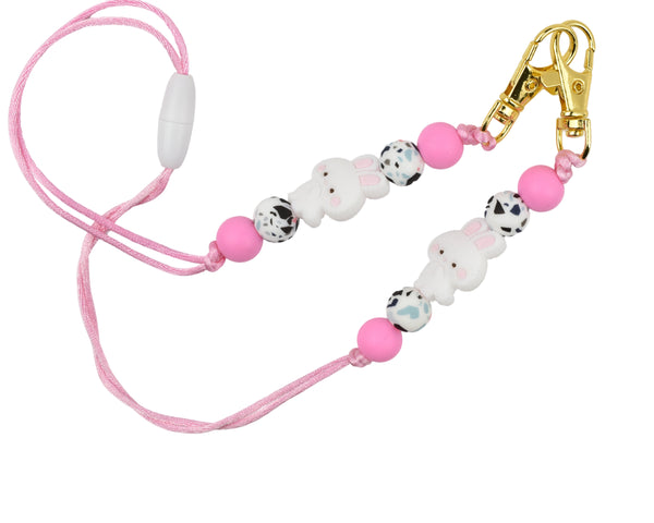 Bunny Rabbit Clasp Lanyard Mask Holder - Multiple Designs Available