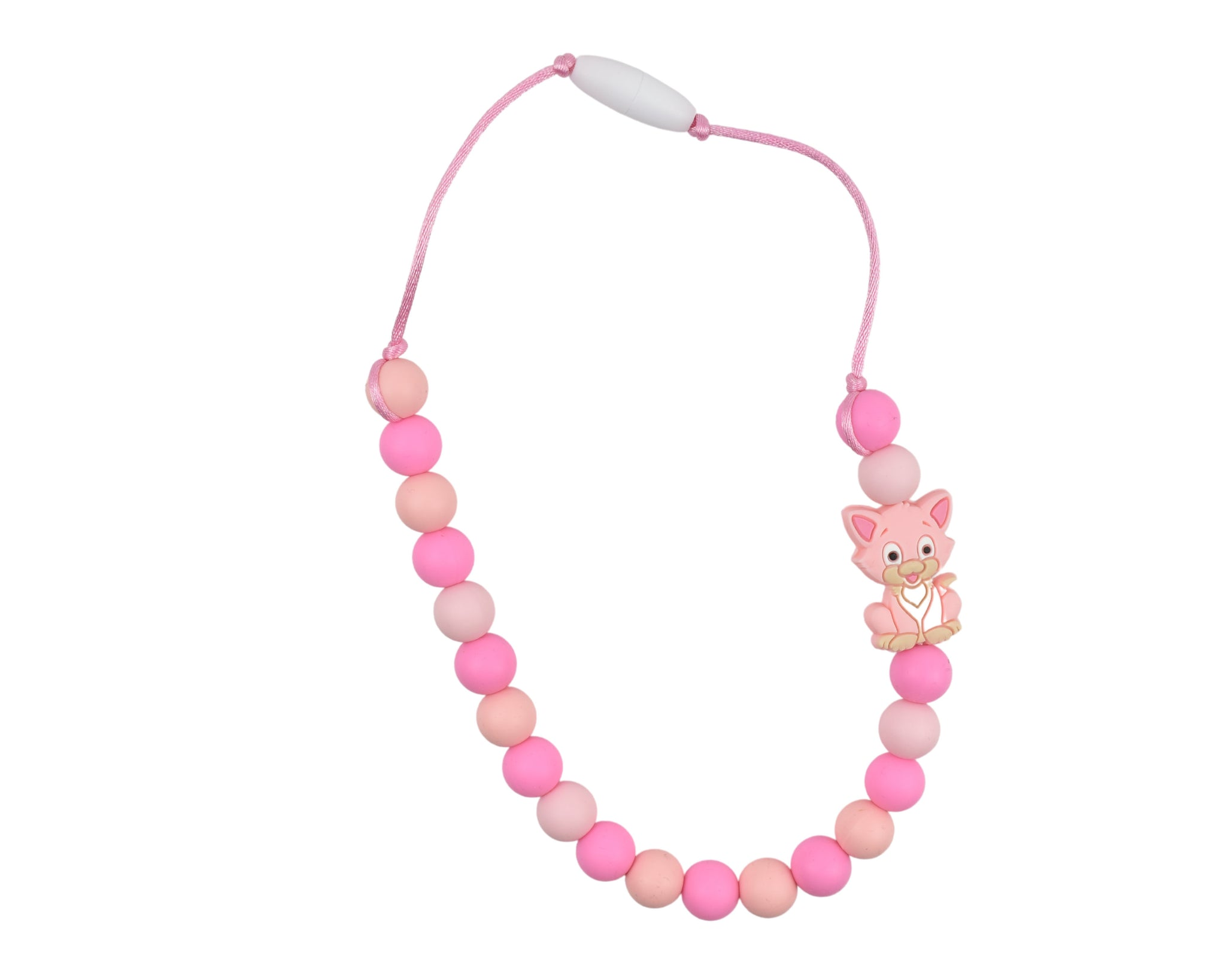 Cat Silicone Kid Necklace - Multiple Colours Available