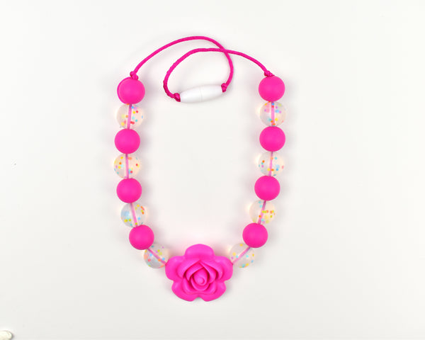 Large Rose Confetti Kids Necklace - Multiple Colours Available