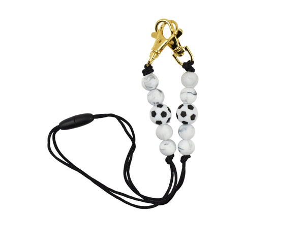 Soccer Ball Clasp Lanyard Mask Holder - Multiple Designs Available