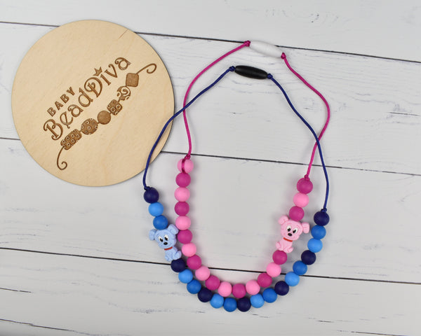 Dog Kid Necklace - Multiple Colours Available